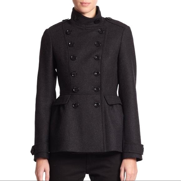 Burberry Brit Dark Gray Adamsleigh Military Coat